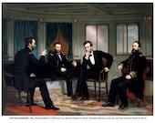 The Peacemakers Civil War Portrait President Abraham Lincoln Generals William Sherman, Ulysses Grant, Admiral David Porter