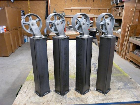 DIY Industrial Metal Table Legs Casters by ModernIndustrial : il570xN716461881ky6y from www.etsy.com size 570 x 428 jpeg 73kB