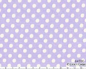 Lavender Medium Polka Dots from Color Basics by Lecien