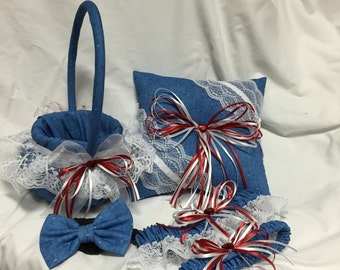 Custom Doctor Who Blueprint Tardis Flower Girl Basket (BASKET ONLY)