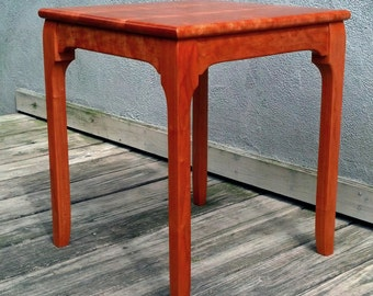 """Accent Table, Pair of """"Deco Minima"""" Side Tables or End Tables, Art Deco Furniture, Solid Wood"""