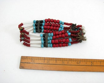 Vintage Glass Bead Indian Bracelet