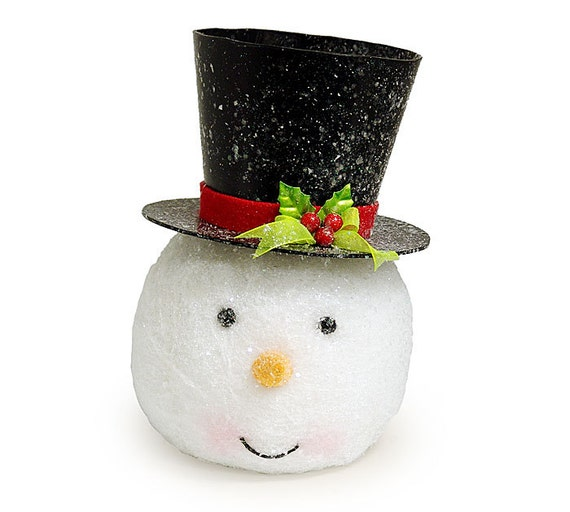 snowman tree topper limited supply fun trendy snowman trees. Black Bedroom Furniture Sets. Home Design Ideas