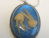 Jelly Fish necklace Glows in the dark Jellyfish ocean sea OOAK