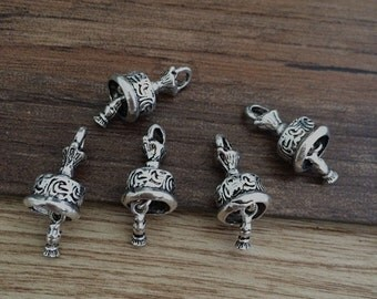 12Pcs 15mmx9mm  Antique Silver  Bell for jewelry making