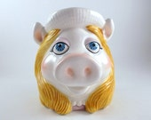 Vintage Ceramic Mug Miss Piggy Collectible Cup Jim Henson 3D Muppes Mug Hand Painted Cup 1979 Tasteseller by Sigma Mother Day Gift
