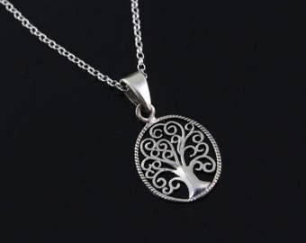 925 Sterling silver tree of life Necklace, Silver tree of life Jewelry, tree of life pendant  CHPL5340