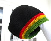 Dread Tam RESERVED black red yellow green lined Size L