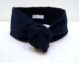 Deep blue headband