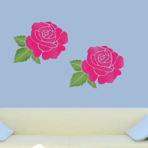 Home Decor Wall Paint Stencils : Rose stencil floral home d?cor painting stencils by