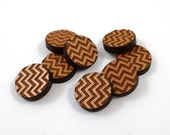 Laser Cut Supplies-8 Pieces.Chevron Pattern Charms - Laser Cut Wood Chevron-Earring Supplies-Little Laser Lab Sustainable Wood Products