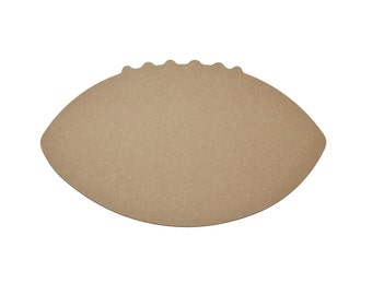 "Football Cut Out Unfinished Wood Paintable Wooden Shape MDF 12"" Inch"
