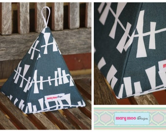 Fabric Doorstop - Blue and White