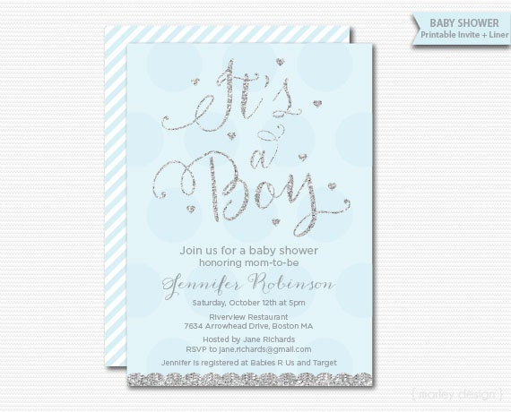 Polka dots its a boy baby shower invitation printable diy digital il570xn filmwisefo Choice Image