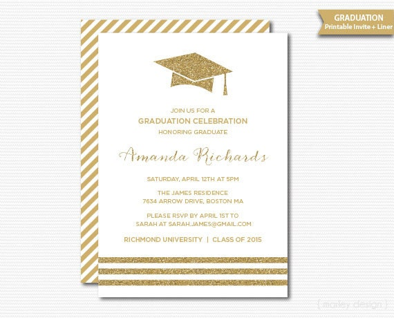White gold graduation invitation printable graduation party grad il570xn filmwisefo