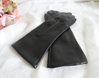 Black Nylon Gloves with Cotton Lining - Black Winter Gloves - ES-MB-2