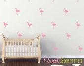 Flamingo wall decals, Flamingo decal, Flamingo wall sticker, nursery wall decal, wall decals, wall stickers, vinyl wall decal stickers  x 40