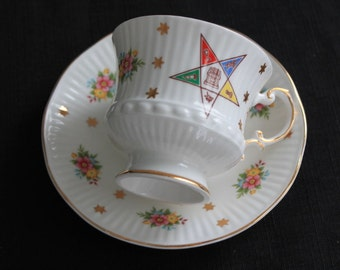 Vintage Elizabethan England Fine China Rebecca Star Teacup