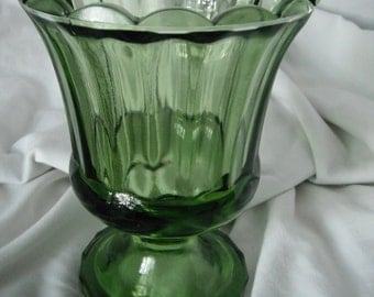 Vintage emerald green candy dish or vase
