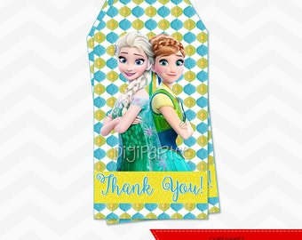 INSTANT DOWNLOAD - Frozen Fever Thank You Tags