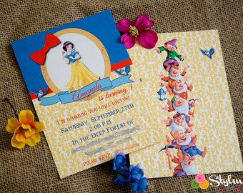 25 or 50 Printed Invitations