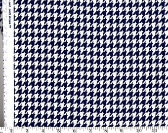 1 Yard, Navy Blue and White Houndstooth