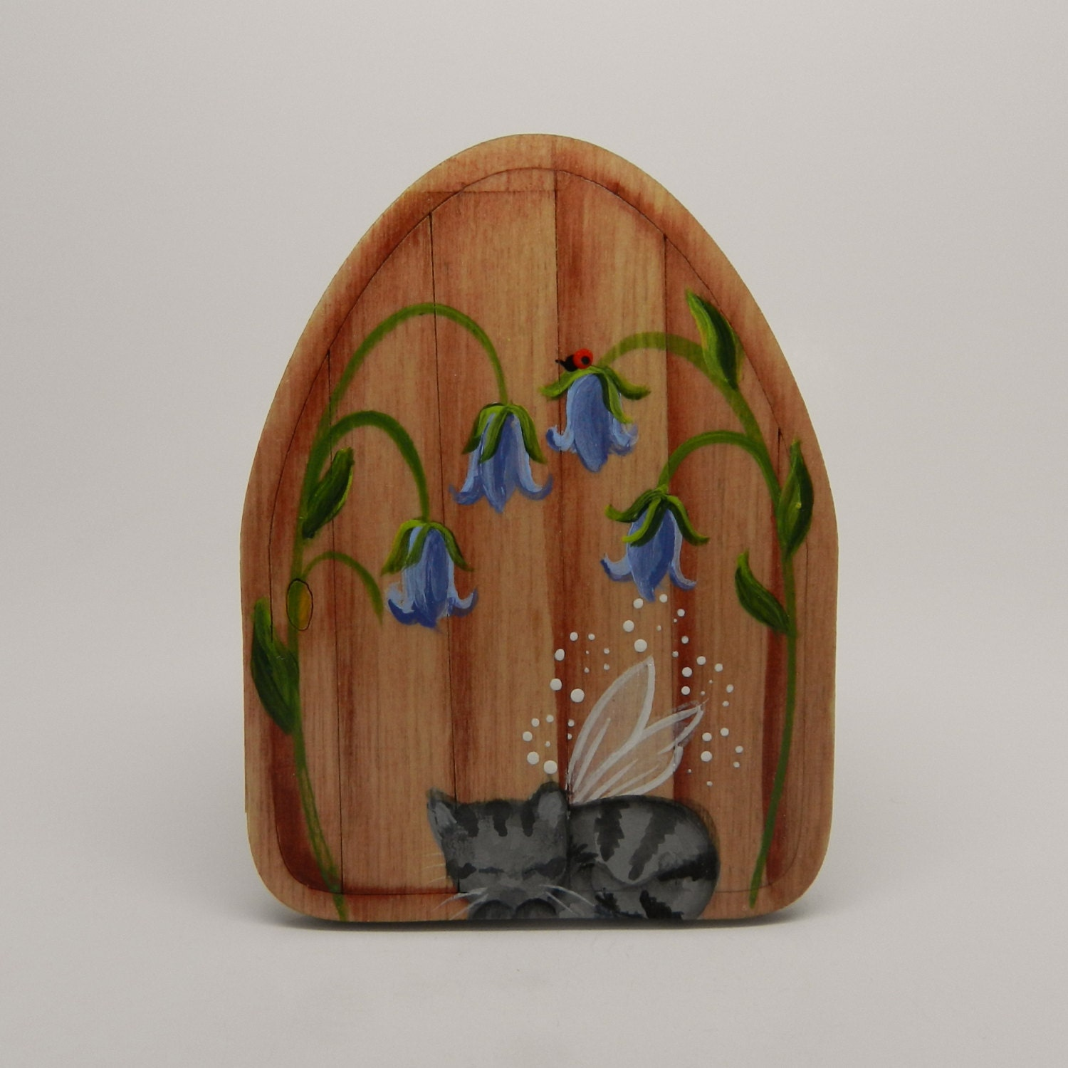 Beautiful hand painted 39 fairy door 39 with by littletinkersgifts for Painted fairy doors