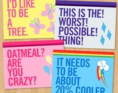 My Little Pony: Friendship is Magic Quotes Stationery Set - Postcards