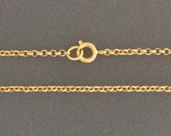 Gold Filled necklace chain rolo - jewellery necklaces finished you choose 16 18 20 22 24 26 28 30inch yellow gold filled