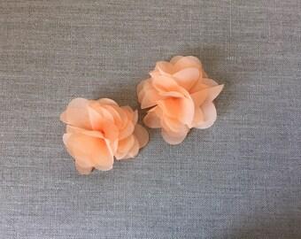 Peach hair clips