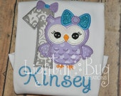 Girly Owl Birthday Shirt