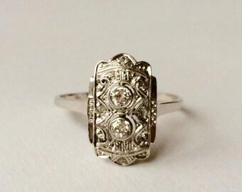 Antique Art Deco diamond engagement ring S3