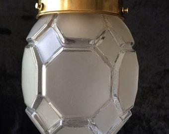 Original Art Deco frosted glass design pendant