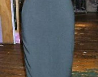 Baylis & Knight Black Suiting NELL Pleat High Waisted Wiggle Pencil Skirt Dita Burlesque Pin Up 50's Classic