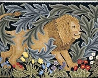 William Morris Lion and Laurels Cross Stitch xstitch Art Nouveau Art Deco