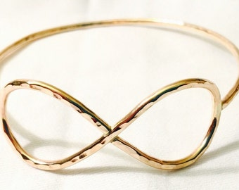 14K Gold Filled Infinity Bangle