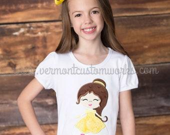 Beauty Shirt, Belle Shirt, Princess Belle Shirt, Yellow Princess Shirt, Disney Vacation Shirt, Rose Princess, Princess Birthday Shirt, Belle