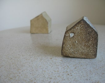 Miniture Ceramic Houses - Set of 2