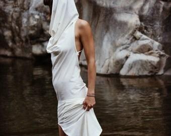 LONG DRESS, Cowl neck dress, Long Dress, chained dress, Black dress, Open back dress, Boho dress