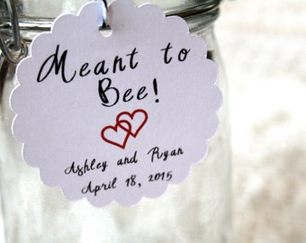 Meant to Bee, Wedding Favor Tags, Wedding Tags, Favor Tags, Thank You Tags, Wedding Favor, Wedding Tag, Bridal Shower Tags, Hang Tag