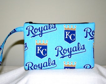 Kansas City Royals Wristlet, Cell Phone Bag, Padded Bag, Small Tech Bag
