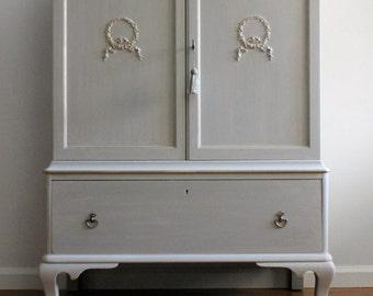 SOLD* Vintage Mahogany Chest/Tall Dresser/Bureau/Armoire
