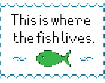 MST3k Cross-Stitch Pattern - This Is Where the Fish Lives