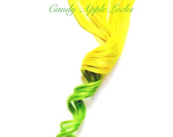 Hair Extensions, Neon Clip in Hair, Human Hair Extension, Ombre, Tye Dye