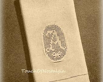 ALPHABET MONOGRAM Chart Crochet Pattern - Filet Crochet Alphabet / Monogram Beautiful SCROLLED Letters - Name Doily