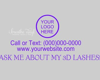 Custom Ask Me About My 3D Lashes Decal