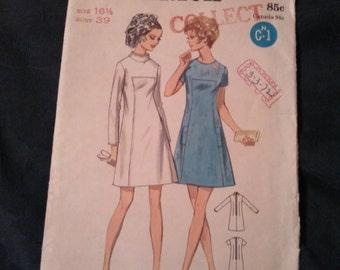 1960s Vintage Butterick Pattern 5679 Size 16 1/2