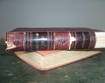 Antique Hardcover Book Longfellow Poems