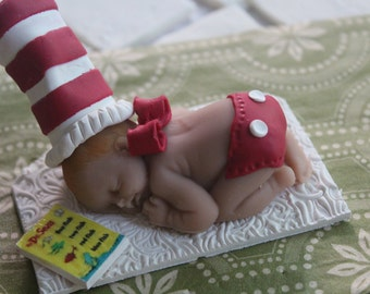 Dr Seuss Red Diaper baby shower cake topper - little hope cakes