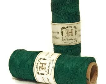 Green Hemp Cord .5mm Hemptique Macrame Hemp Cord, Superior Quality, Gift Tag String